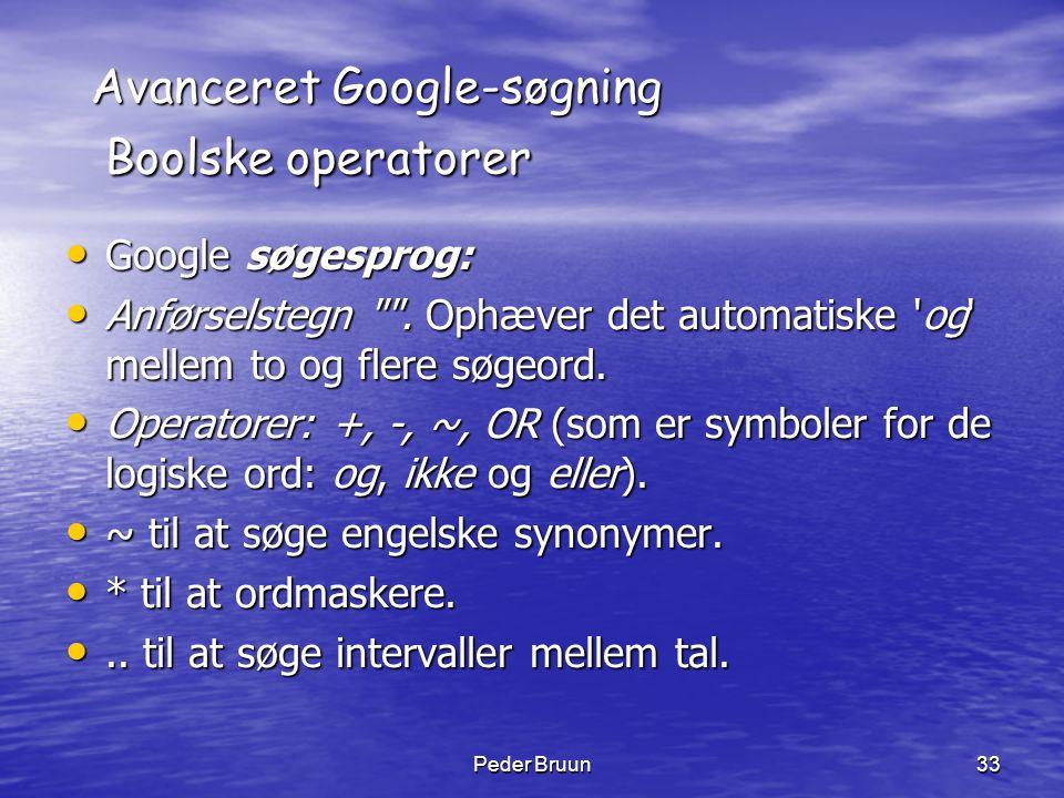 Avanceret Google-søgning Boolske operatorer