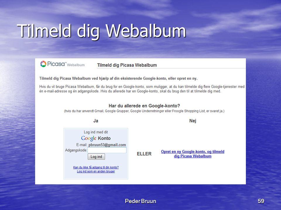 Tilmeld dig Webalbum Peder Bruun
