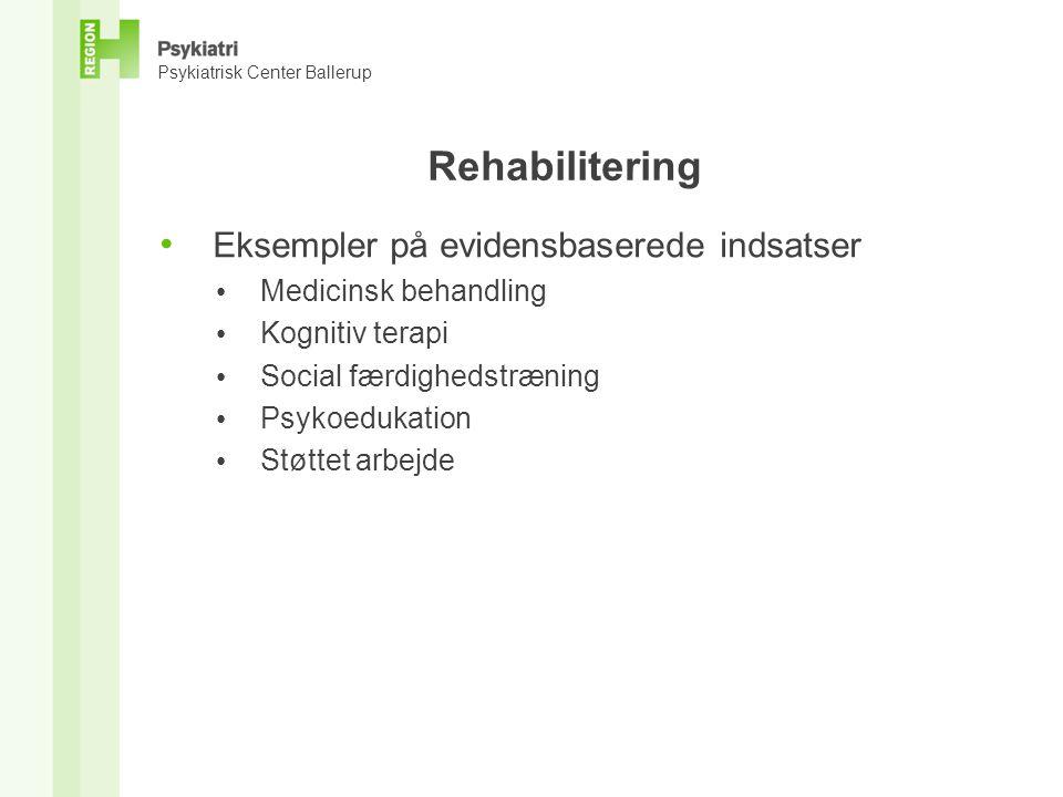 Rehabilitering Eksempler på evidensbaserede indsatser