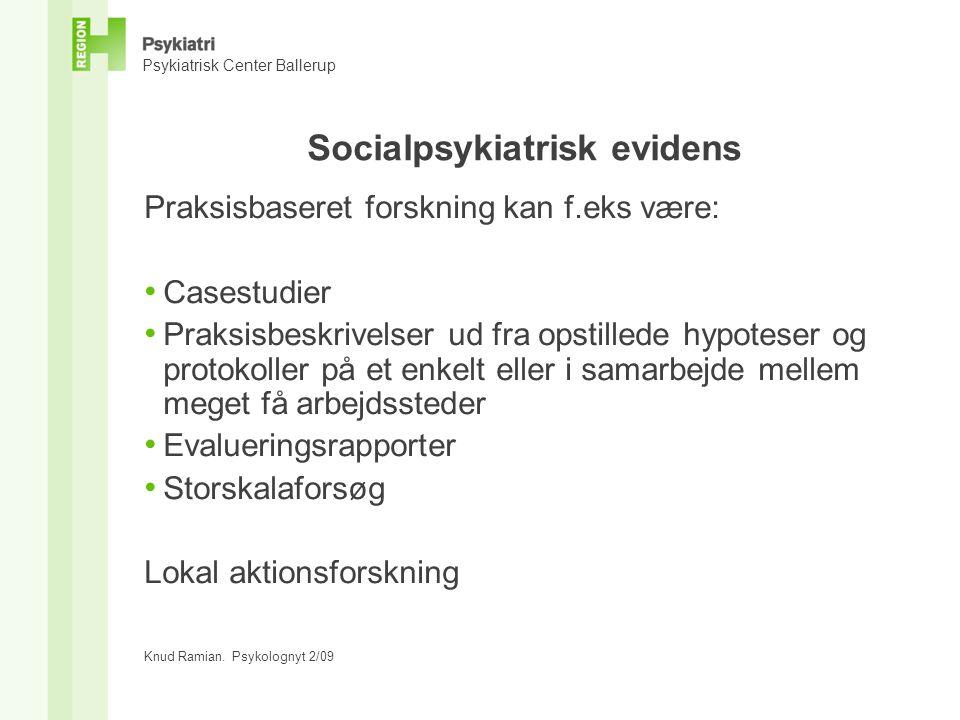 Socialpsykiatrisk evidens