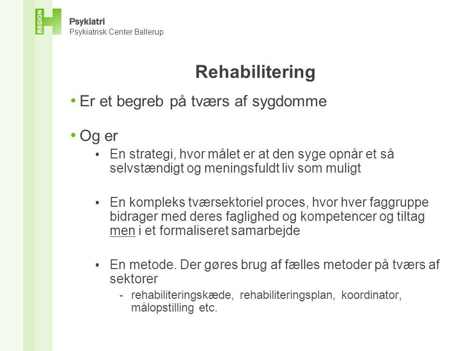Rehabilitering Er et begreb på tværs af sygdomme Og er