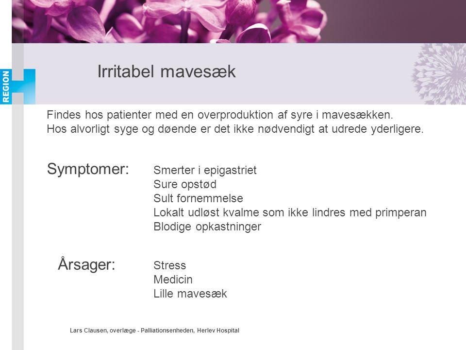 Irritabel mavesæk Symptomer: Årsager: