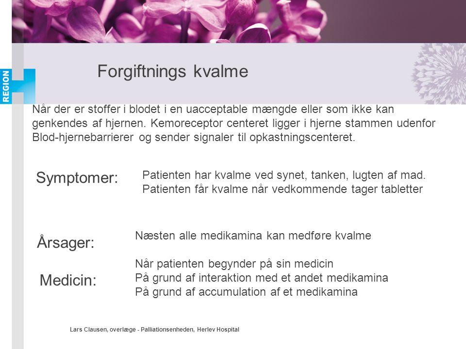 Forgiftnings kvalme Symptomer: Årsager: Medicin: