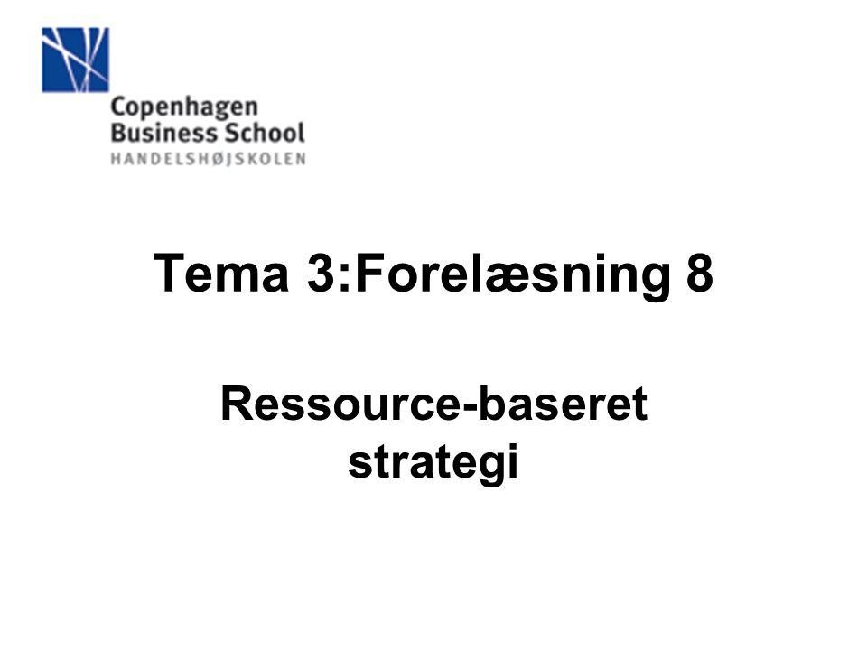 Ressource-baseret strategi