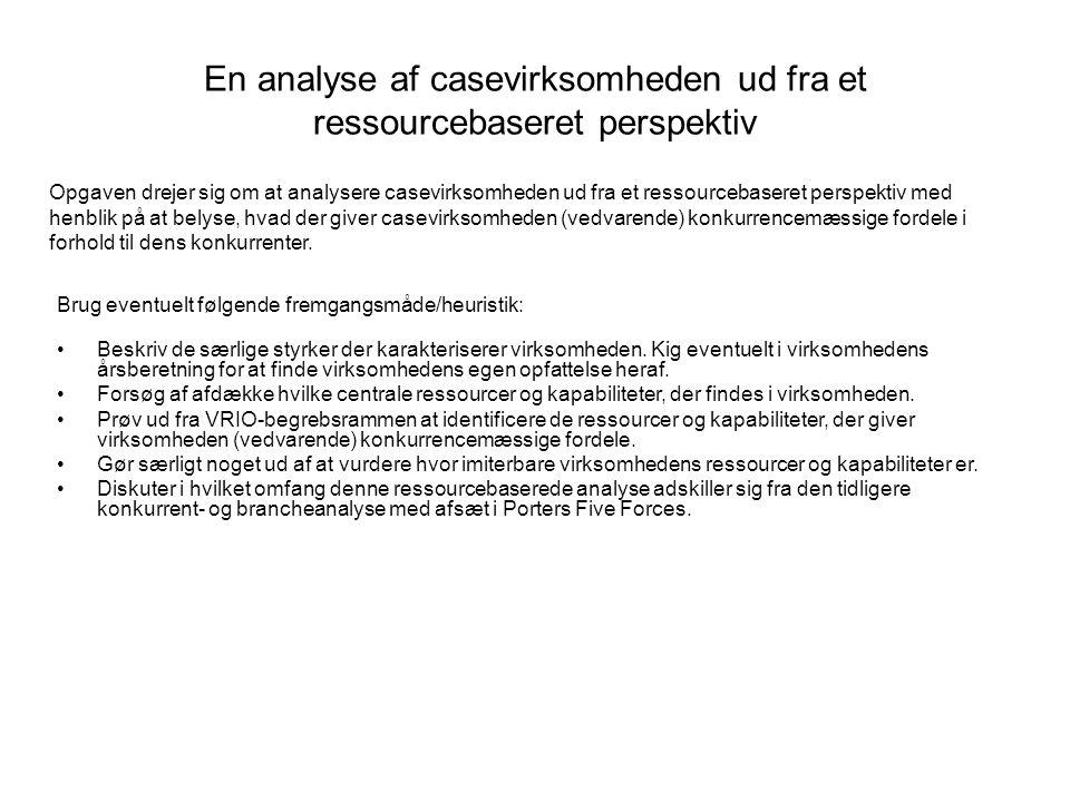 En analyse af casevirksomheden ud fra et ressourcebaseret perspektiv