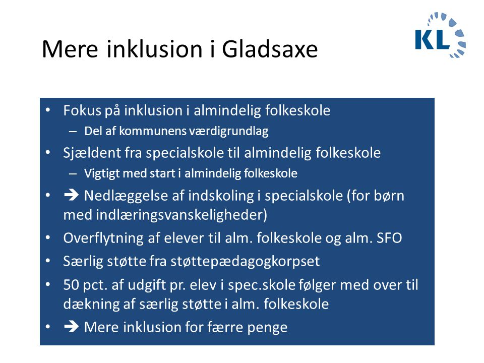 Mere inklusion i Gladsaxe