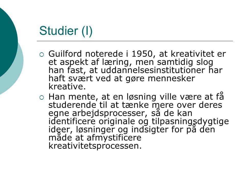 Studier (I)