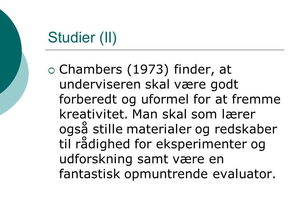 Studier (II)