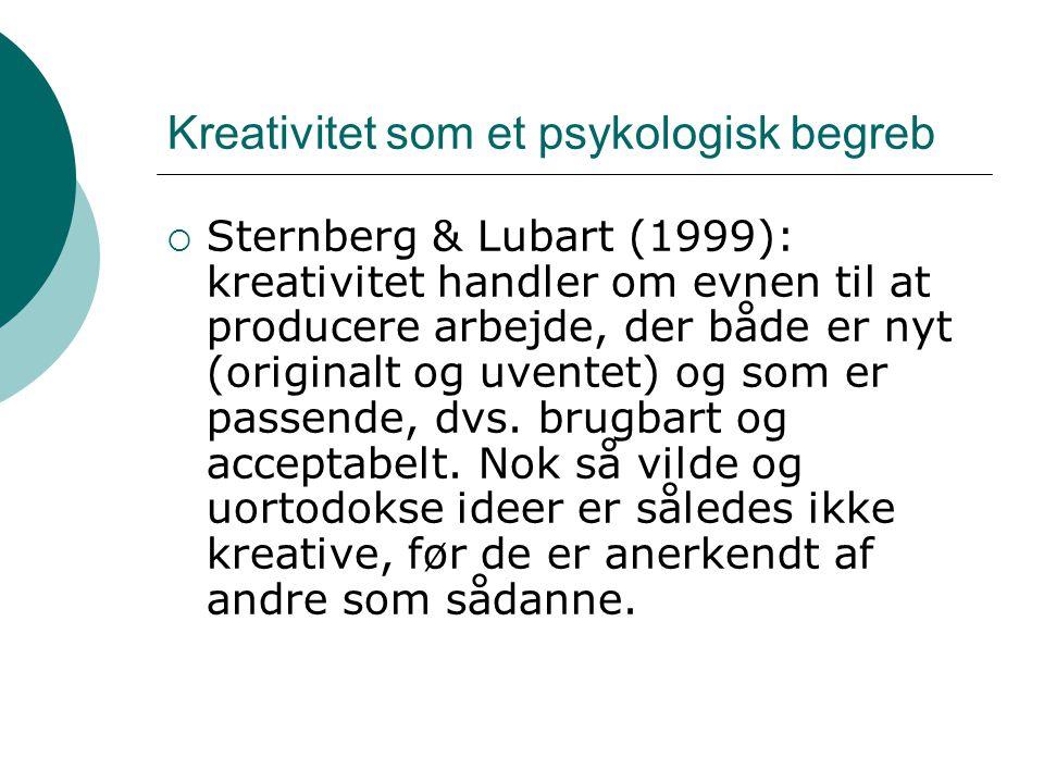 Kreativitet som et psykologisk begreb