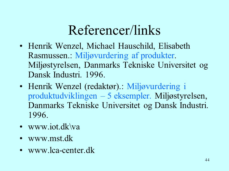 Referencer/links