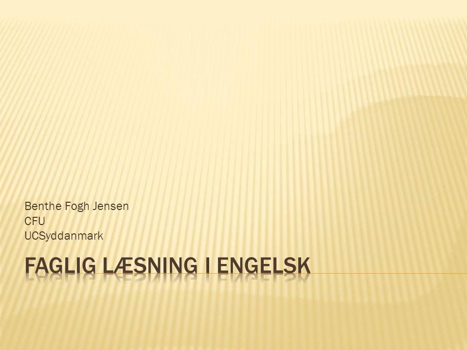 Faglig læsning i engelsk