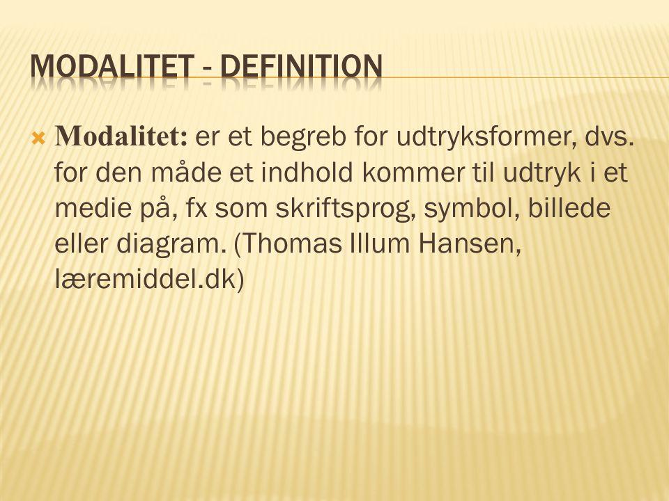 Modalitet - definition