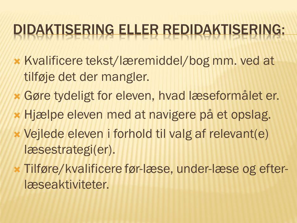 Didaktisering eller Redidaktisering: