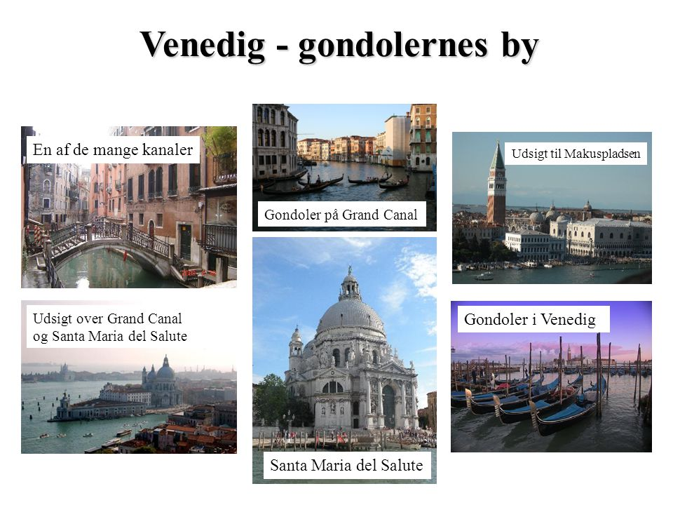 Venedig - gondolernes by