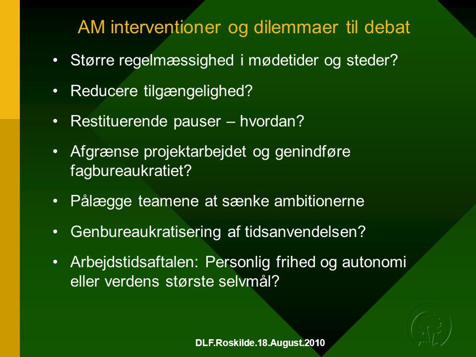AM interventioner og dilemmaer til debat
