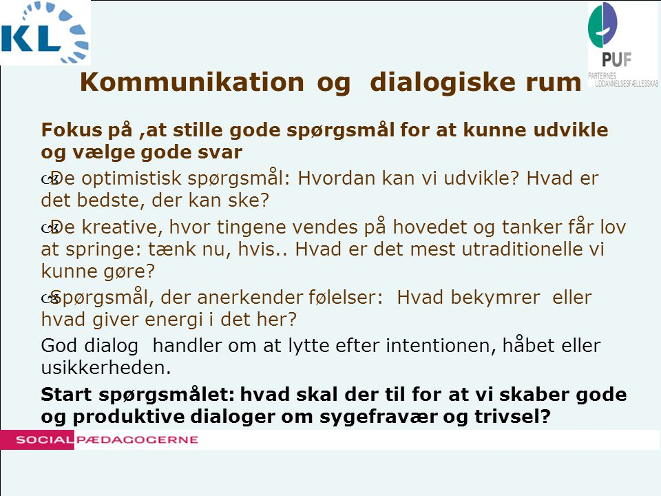Kommunikation og dialogiske rum