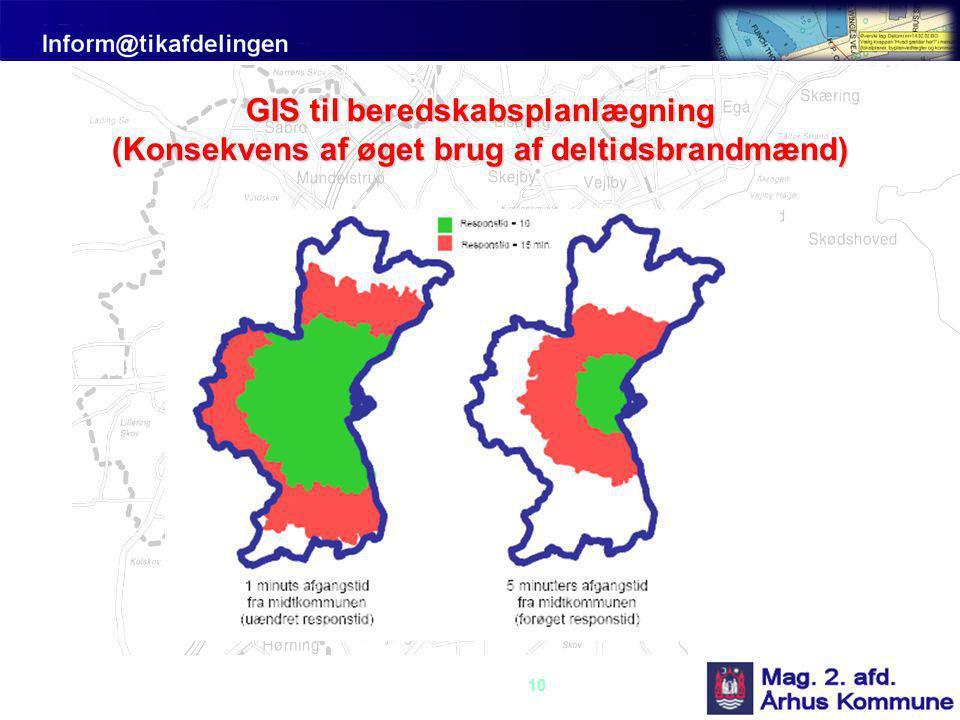GIS til beredskabsplanlægning (Konsekvens af øget brug af deltidsbrandmænd)