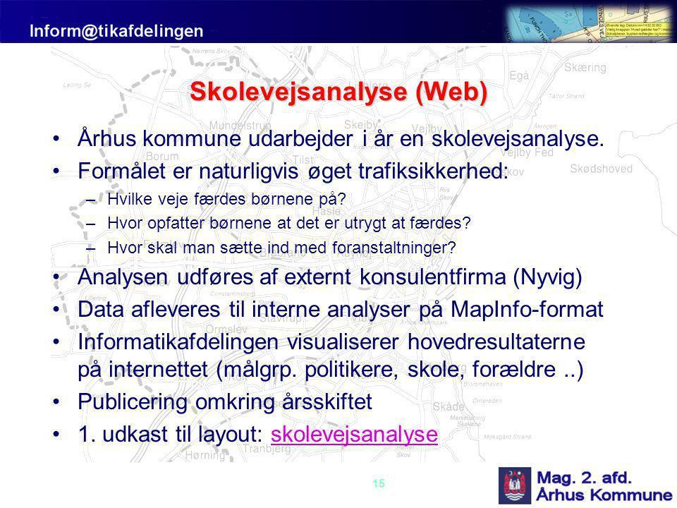Skolevejsanalyse (Web)