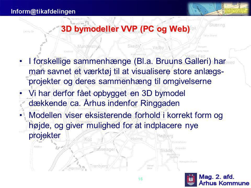 3D bymodeller VVP (PC og Web)