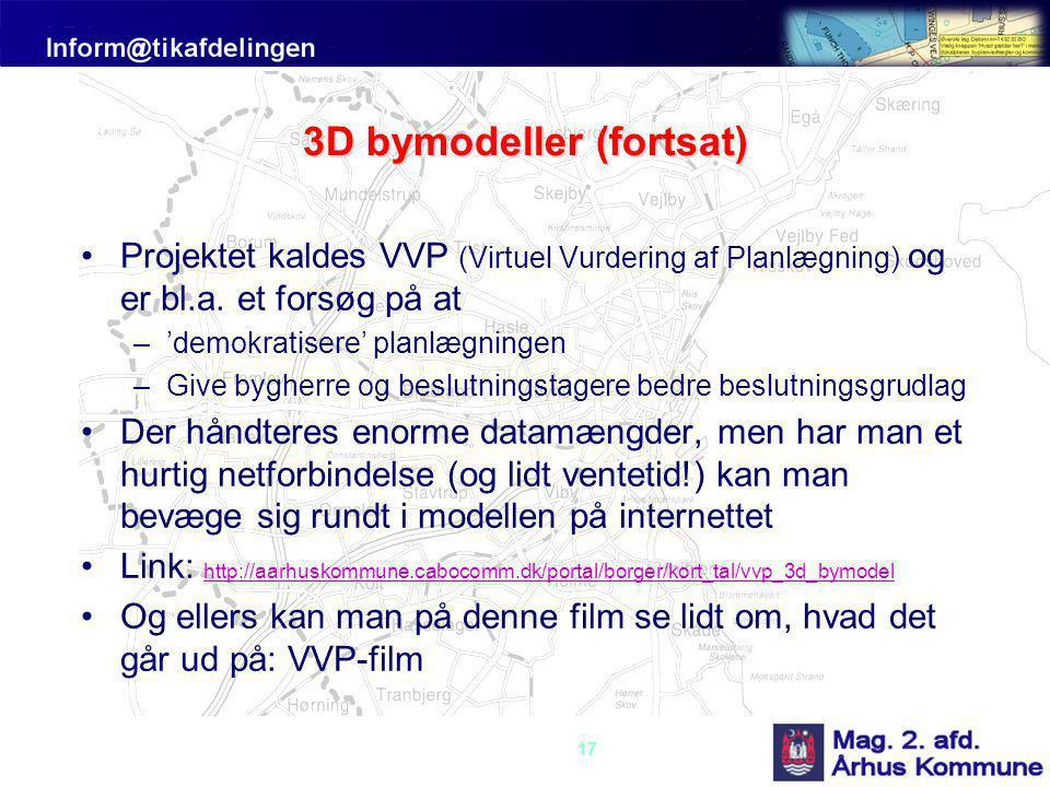 3D bymodeller (fortsat)