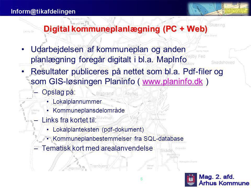 Digital kommuneplanlægning (PC + Web)