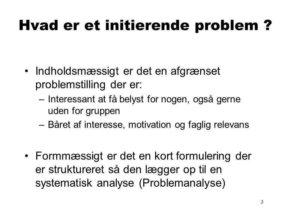Hvad er et initierende problem