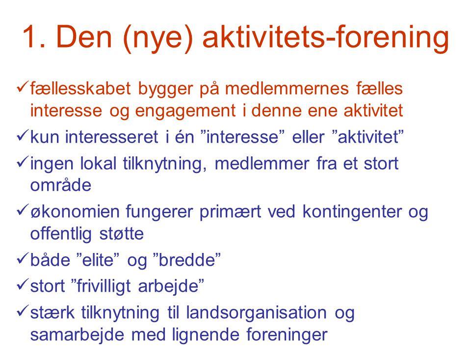 1. Den (nye) aktivitets-forening