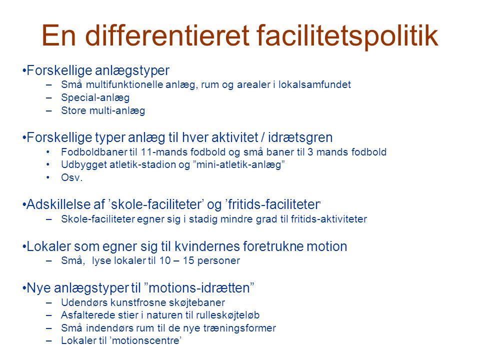 En differentieret facilitetspolitik