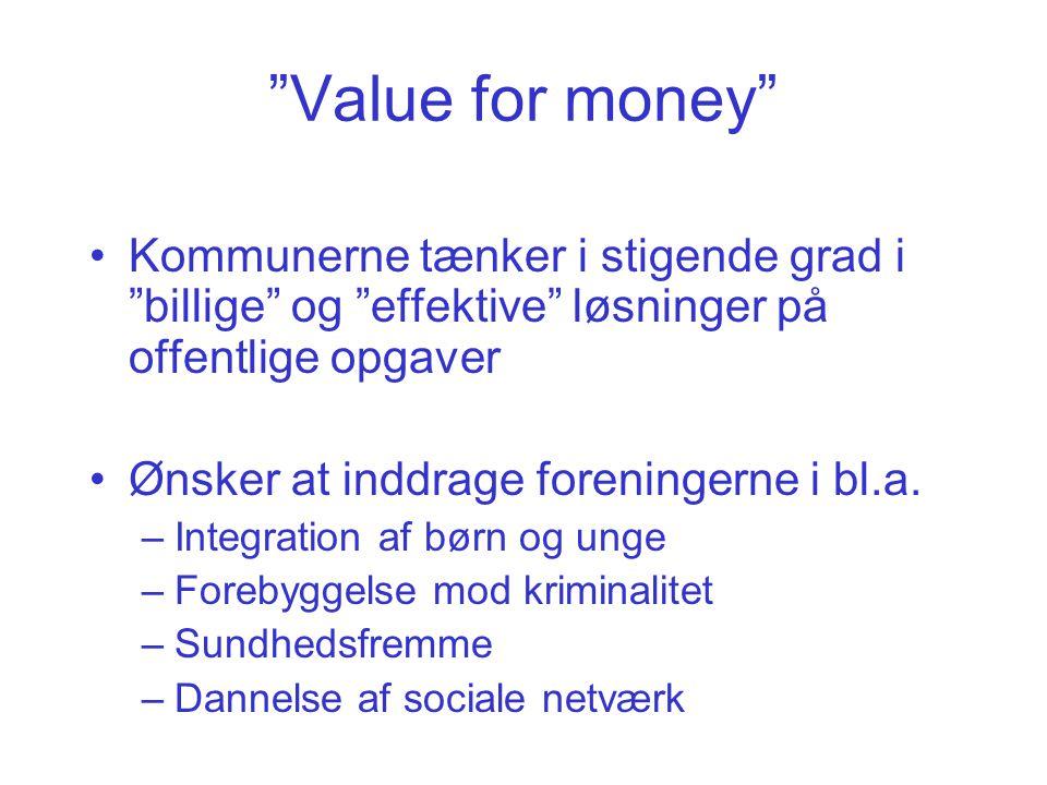 Value for money Kommunerne tænker i stigende grad i billige og effektive løsninger på offentlige opgaver.