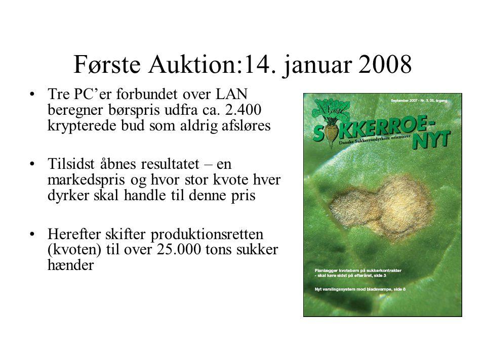 Første Auktion:14. januar 2008