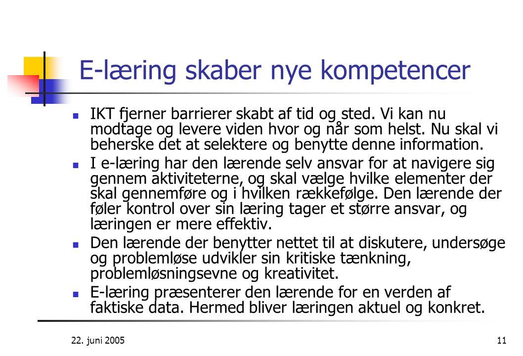E-læring skaber nye kompetencer