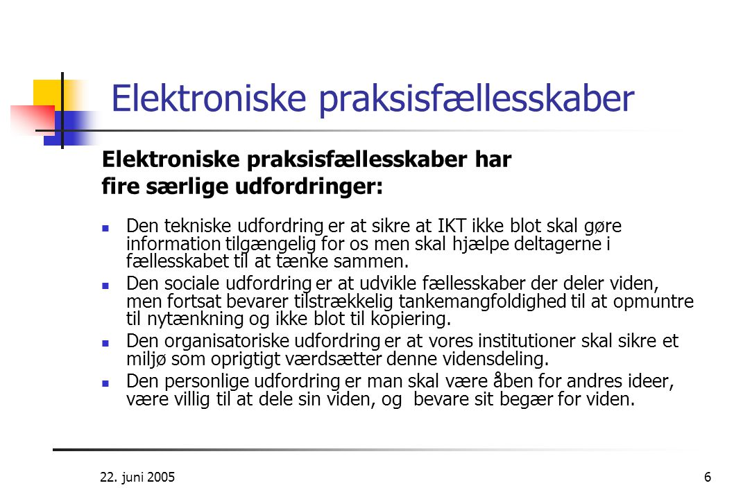 Elektroniske praksisfællesskaber