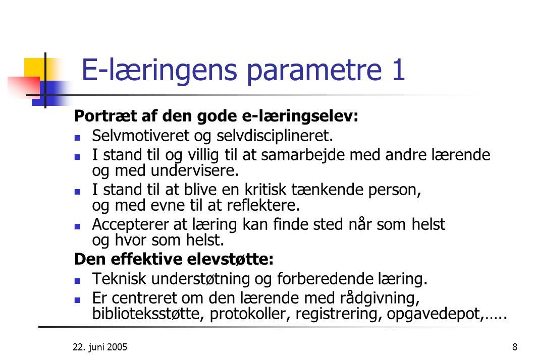 E-læringens parametre 1