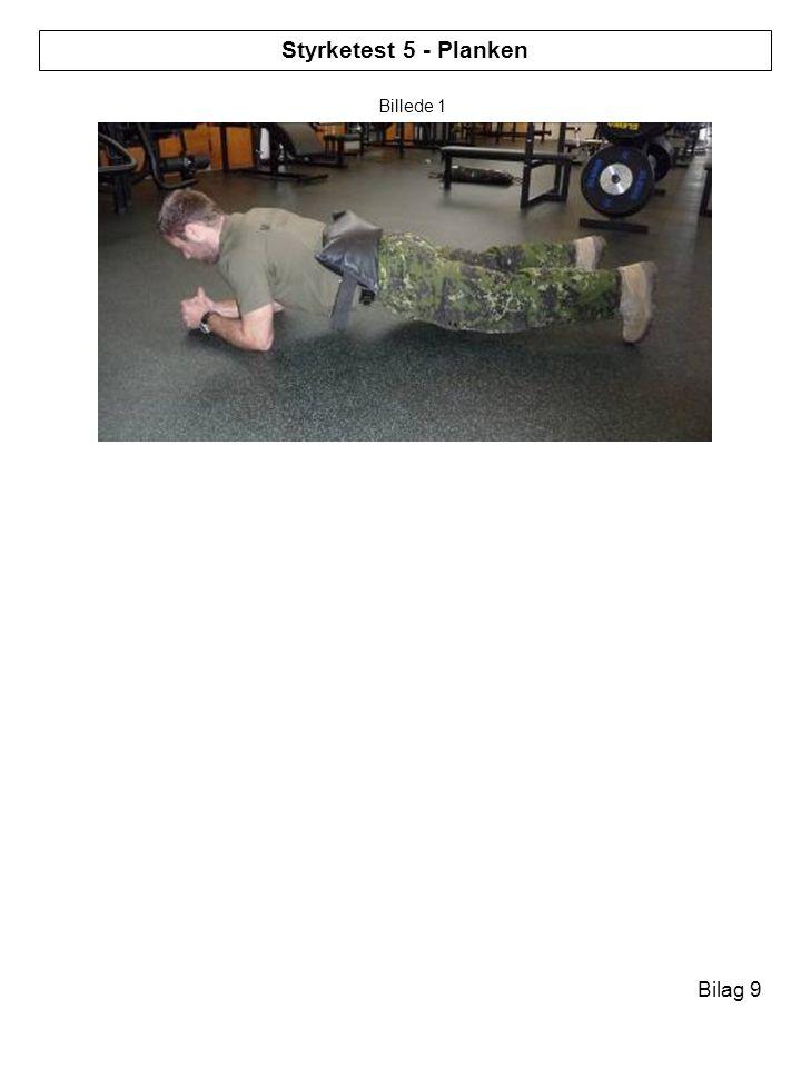 Styrketest 1 - Lunges Styrketest 5 - Planken Billede 1 Bilag 9 Bilag 1