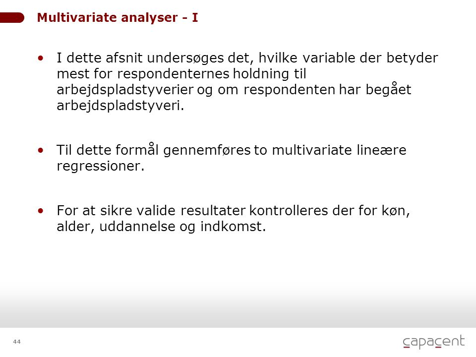 Multivariate analyser - I