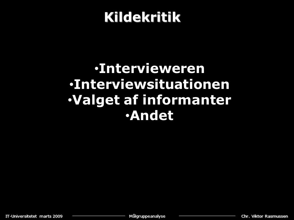 Interviewsituationen