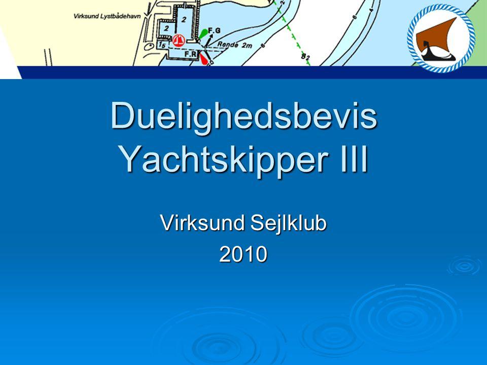 Duelighedsbevis Yachtskipper III
