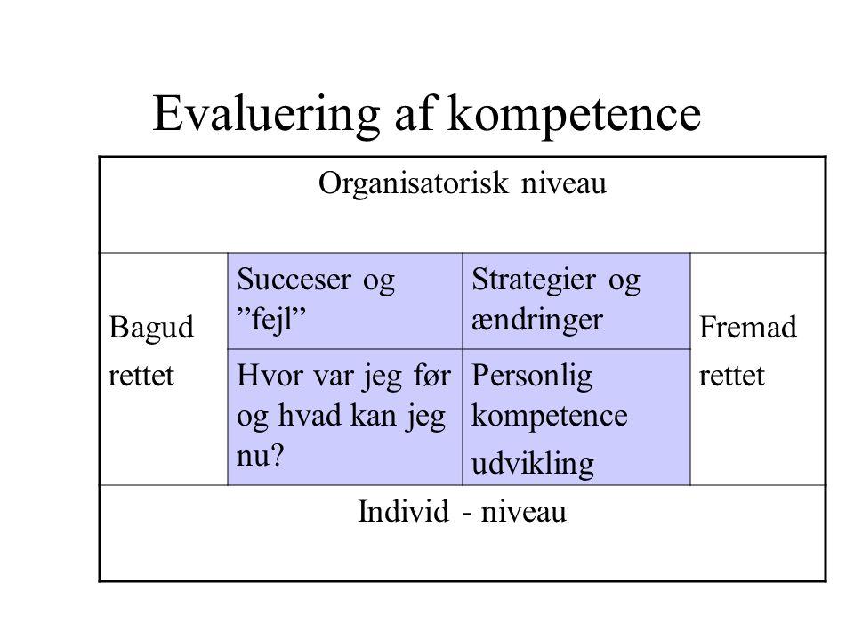 Evaluering af kompetence