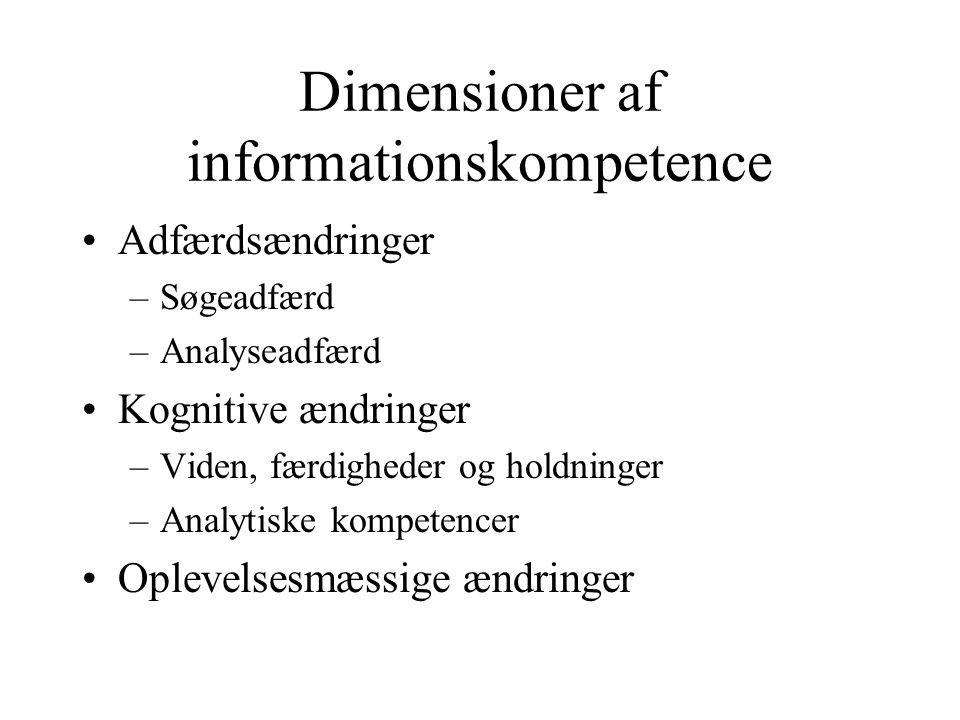 Dimensioner af informationskompetence