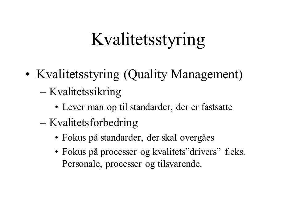 Kvalitetsstyring Kvalitetsstyring (Quality Management)