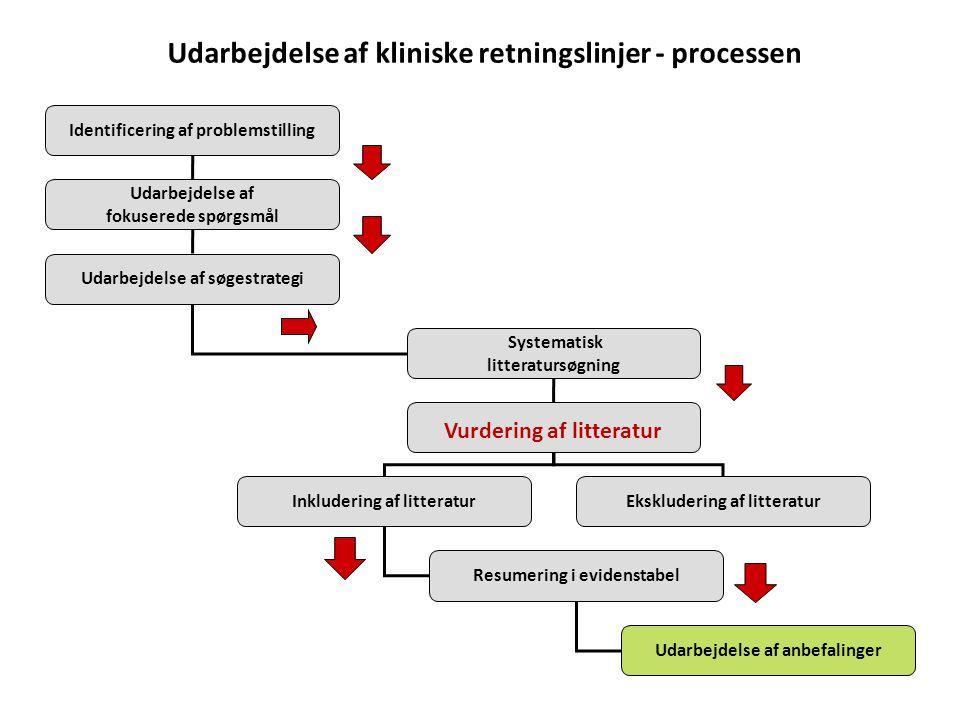 Udarbejdelse af kliniske retningslinjer - processen