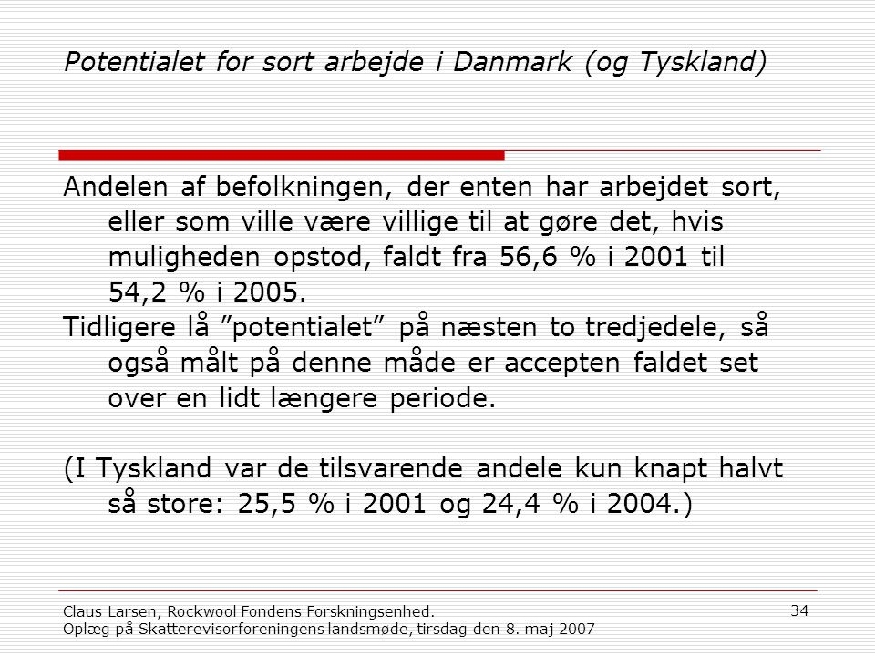 Potentialet for sort arbejde i Danmark (og Tyskland)