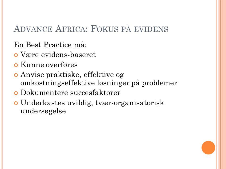 Advance Africa: Fokus på evidens