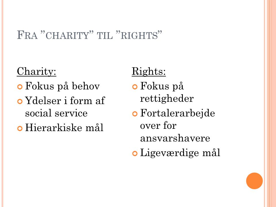 Fra charity til rights