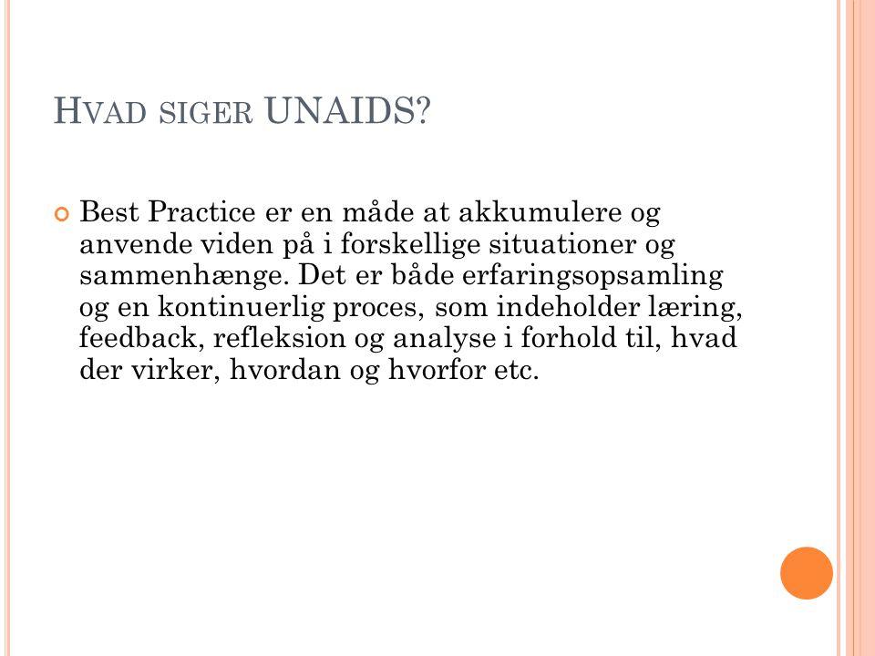 Hvad siger UNAIDS