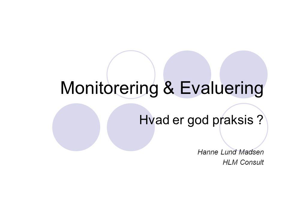 Monitorering & Evaluering