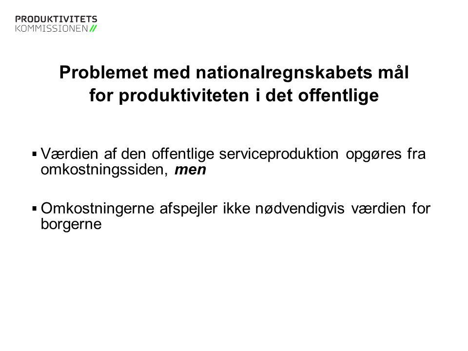 Problemet med nationalregnskabets mål for produktiviteten i det offentlige