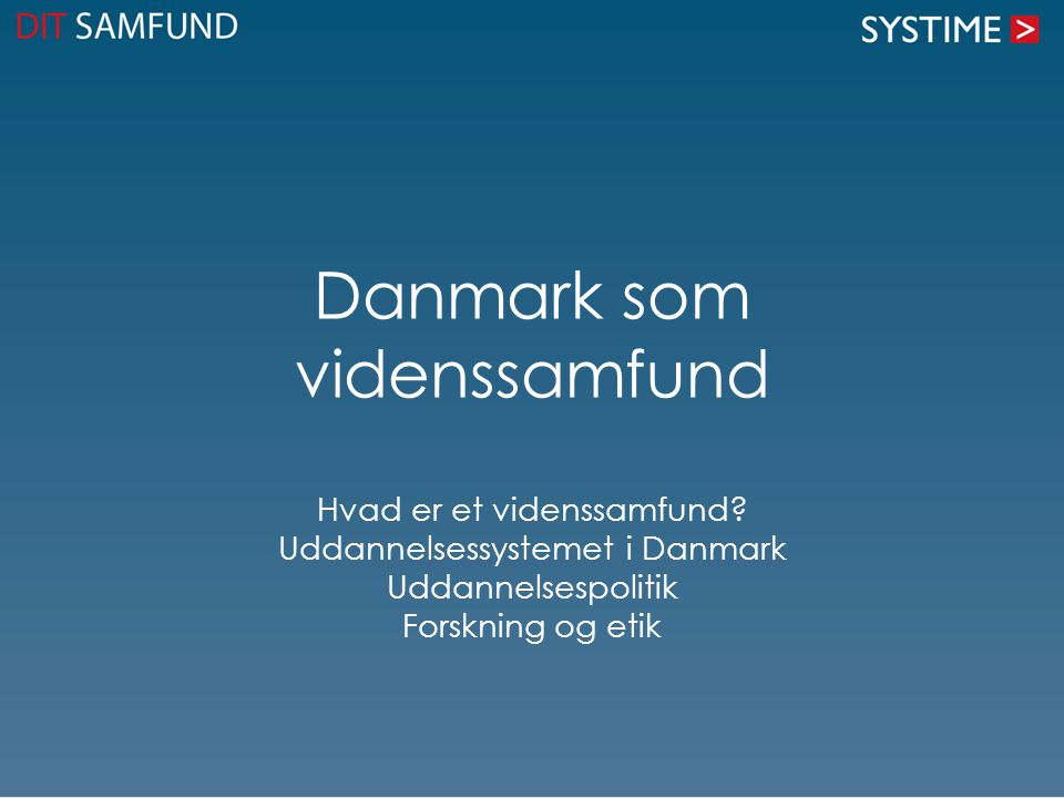 Danmark som videnssamfund