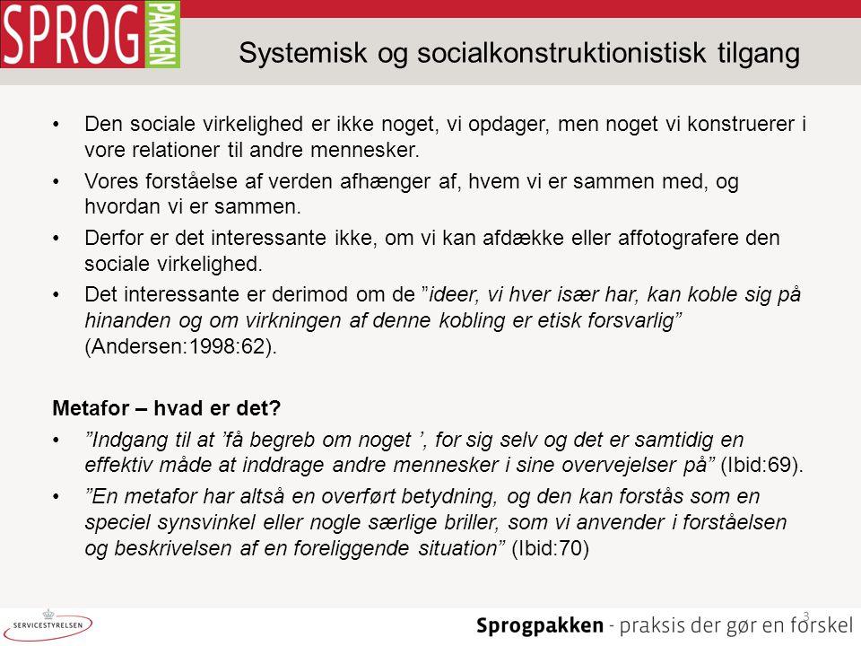 Systemisk og socialkonstruktionistisk tilgang