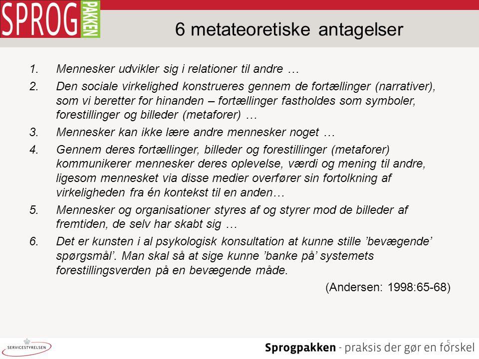 6 metateoretiske antagelser